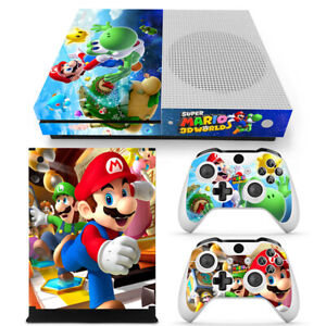 Super Mario Skin Decal Stickers FOR XBOX ONE S Slim Console &2 Controllers skin