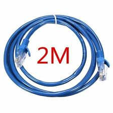 2 M RJ45 Cat5e Enternet Network LAN CAVO UTP PATCH LEAD per Smart TV Box