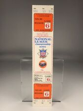 1986 NLCS New York Mets Astros Game 6 Full Ticket