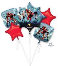 Disney Incredibles 2 Happy Birthday Party Favor 5CT Foil Balloon Bouquet