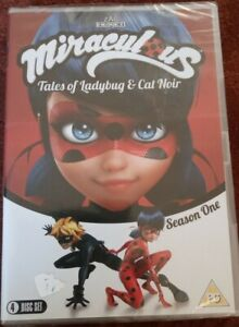 MIRACULOUS TALES OF LADYBUG AND CAT NOIR: COMPLETE SEASON ONE, 4 DVD BOX SET NEW