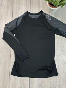 ADIDAS TECHFIT ALPHASKIN Mens Long Sleeve Compression Top Shirt | Medium M | BLK