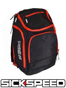 SICKSPEED BACK PACK SCHOOL BAG BACKPACK SEATBELT SEAT BELT PAD RACING RED