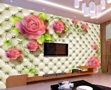 3D Wallpaper Bedroom Mural Roll Luxury Modern Floral Photo Wall Background TV