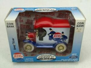Gearbox 76506 1:24 Diecast 1912 Pepsi-Cola Ford Deliver Car Coin Bank