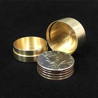Dynamic Coins Copper Box,US Half Dollar Version Magic Tricks Coin Vanish Magic