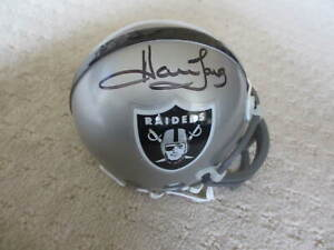 Howie Long Hofer Oakland Raiders Hand Signed Mini Helmet  w/COA *