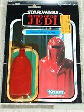Vintage Star Wars 1983 KENNER AFA 80 EMPERORS ROYAL GUARD ROTJ 77 Back card MOC!