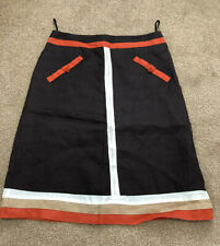 PRINCIPLES Brown & orange A-line knee length skirt - Size 12 PETITE NEW