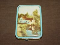 "VINTAGE ENGLAND 6 3/4"" X 4 3/4"" PASCALL ENGLISH SWEETS CANDY TIN CAN  *EMPTY*"
