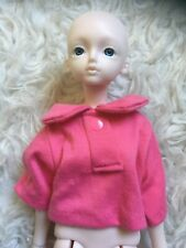 Hot Pink Casual Shirt Baggy W/ Collar For 1:4 Msd Bjd Doll