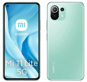 Xiaomi Mi 11 Lite 5G Mint Green, Dual SIM, 128GB 8GB, Official Warranty, NoBrand
