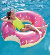 NEW Pumpt Inflatable Giant Pink Sprinkle Donut Floating Pool Toy Age 6+ PINK