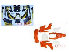 Orange PLASTICS STICKER Kit PIT BIKE 125/140/150250CC FOR APOLLO/ORION