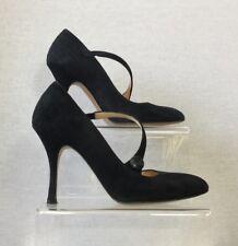 Hobbs Ladies Navy Blue Suede Mary Jane Stiletto Heel Court Shoes Uk Size 3/36