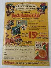 1961 Kelloggs Corn Flakes HUCK HOUND CLUB ad page ~ Yogi Bear