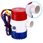 12V 3.0A 1100 GPH Electric Bilge Pump For Marine Boat Yacht Submersible USA photo