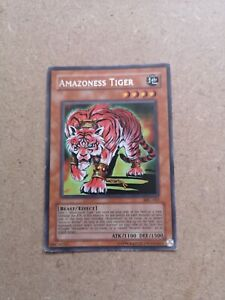 Yu-Gi-Oh! Amazoness Tiger MFC-063 Rare LP condition Trading Card