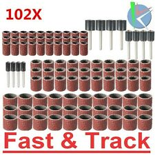 Cilindri abrasivi Dremel 102pcs 120 Grit Drum Sanding Kit With 1/2 3/8 1/4 Inch