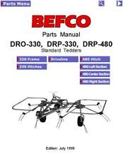 Befco Dro 330 Drp 330 480 Standard Tedders Service Parts Manual 1998