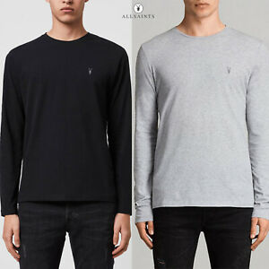 All Saints Mens Designer AllSaints Crew Neck Pullover Tonic Cotton T-Shirt Tee