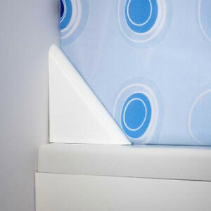 Croydex White Bathroom Caravan Magnetic Corner Shower Curtain Clip Holder 125mm