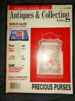 1988 Antiques & Collecting Magazine Scrimshaw Whale Marbles Arko Agate Bandboxes