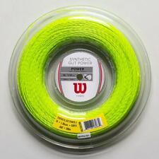 Wilson Synthetic Gut Power 16g 1.30mm 660' 200m Tennis String Reel Green