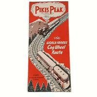 COLLECTIBLE VINTAGE TRAVEL COG WHEEL BROCHURE - PIKES PEAK REGION COLORADO