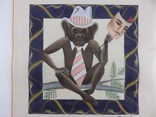 Leigh MALE MONKEY WITH HUMAN MASK Hand-Painted Needlepoint Canvas 5104 NEW