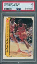 1986/87 Fleer Sticker #8 Michael Jordan PSA VG 3 *9987