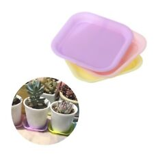 30Pcs Plastic Plant Flower Pot Saucer Square Base Water Planter Tray Garden Tool