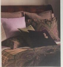 Ralph Lauren STANDARD SHAM Riverport Compton Archival Collection Purple Wool