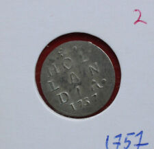 Niederlande: Holland (Hollandia) 2 Stuiver 1757 Silber, KM# 91, VZ-XF-, #F1432