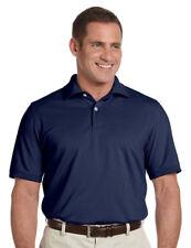 Ashworth Men's Combed 100 Cotton Pique Polo Golf Shirt Navy Blue XL