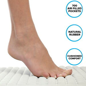 Pillow Top Plus Safety Bath Mat in Gray or Cream