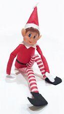 """12"""" Navidad Navidad Vinilo frente Travieso Elfo Sentado en la casa de habitación Decoración de ventana"""