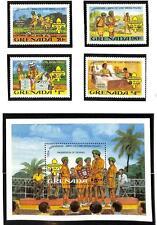 GRENADA BOY SCOUTS SCOTT #1088-92 STAMP SET & SOUVENIR SHEET MNH 1982