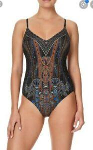 Camilla Franks Gateway to Giza Low Back V Neck Bodysuit Size 2 Medium $4 EXPRESS