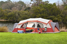 EXTRA LARGE 12 Person FAMILY CAMPING TENT 3 Rooms Carry Case Closets 21 x 14 ft