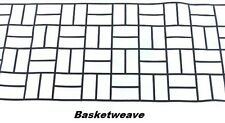 50 sqft Basket Weave Concrete Driveway Stencils for Patios, Decks, Sidewalks