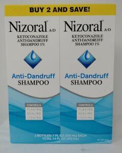 Nizoral A-D Non-Prescription Ant-Dandruff Shampoo 2-7 oz. Each Exp 2022+, #2575