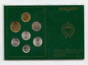 HUNGARY 1989 - 1990 MINT UNCIRCULATED 7 COIN SET