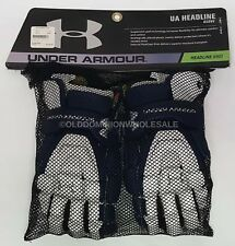 "New Under Armour Headline Navy Blue & White Medium 12"" Lacrosse Gloves"