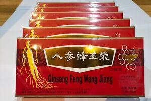 6 Boxes Red Panax Ginseng Royal Jelly Extract Liquid 6x10 Vials improve stamina