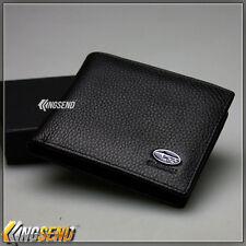 new SUBARU Genuine 100% Cow Leather Bifold Wallet Men Slim Purse Car Pouch Auto