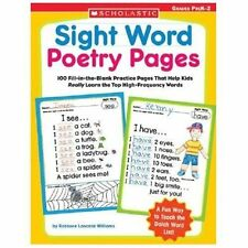 Sight Word Poetry Pages: 100 Fill-in-the-Blank Practice Pages That Help Kids