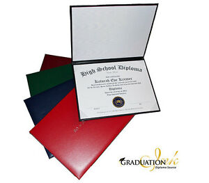 "Custom Home School Diploma (8 1/2"" x 11"") and Diploma Holder (5 Color Options)"