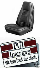1978-1981 PONTIAC FIREBIRD DELUXE BUCKET SEAT COVERS, PAIR, BLACK