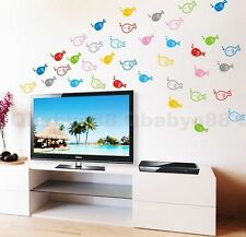 Colorful fish-1 Wall decals Removable stickers decor art kids nursery bathroom